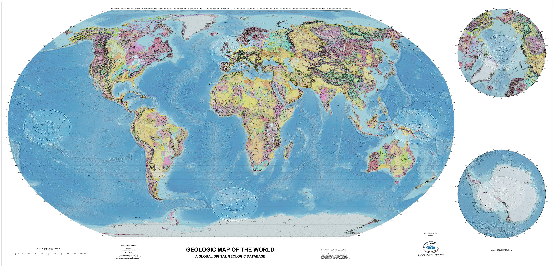 GDS Geologic And Tectonic Maps Geologic Data Systems - World map data